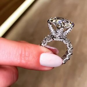 Choucong Brand Wedding Rings Luxury Jewelry Sparkling Pure 100% 925 Sterling Silver Princess Cut Moissanite Diamond Gemstones Party Eternity Women Ring Gift