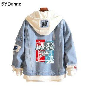 Anime My Hero Academia Shoto Todoroki Cosplay Costumes Attack on Titan Fate Blue Denim Jacket Hoodie Girl Boy Spring Autumn Coat Cx200817