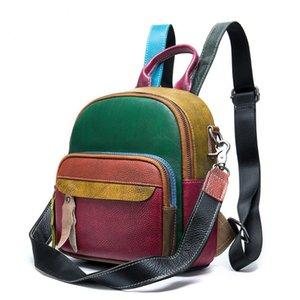 Backpack Soft Real Leather Women Black Small Back Packs For Girls School Teenagers Genuine Mochila Feminina