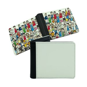 Double Sided White Sublimation Wallet Bags PU Leather Blank Purse DIY Photo ID Card Bag Father Day Gift