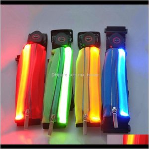 Storage Led Sports Waistpack Solid Color Chargeable Casual Glow Waist Bags Night Running Mini Pocket Fit Men Women Rra2066 Vpkou 8Gzmc