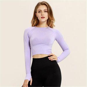 Womens Seamless Yoga T-shirt Clothes Fashion Trend High Stretch Tight Sports Short Tops Tees Designer Female Fitness Slim Sportswear Tshirts