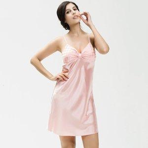 Women's Wholesale- Women Sexy Lace Lingerie Robe Dress Nightwear Underwear Satin Sleepwear 5K1B