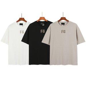 2021 Summer Fashion Brand Fog Men's Basic Loose Top High Street Casual Cotton T-shirt