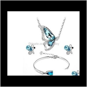 Bracelet, Earrings & Sets Jewelry Drop Delivery 2021 Selling Austria Jewelry, Earrings, Necklaces, Bracelets, Crystal Butterflies, Three Neck