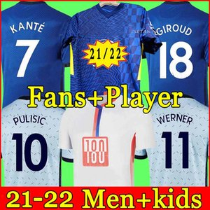 Thailandia Chelsea quarto 20 21 WERNER HAVERTZ CHILWELL ZIYECH Maglie da calcio 2020 2021 Maglia da calcio PULISIC KANTE MOUNT 4th Men Kids set Kit top