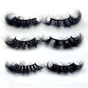 Wholesale Handmade 100% Real Mink Eyelashes Fluffy Lashes Dramatic Long Eyelash Extension Makeup Tools For Beauty