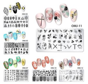 Nail Stamping Plate Transfer Lines Flower Geometric Marble Image Stamp Template Printing Stencil DIY Manicure Nail Art Tools
