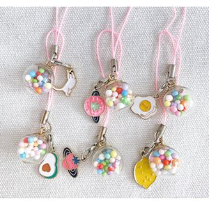 Pretty Korean Version Of Ins Small Pendant Cute Girl Heart Keychain Rope Bag Ornaments Mobile Phone lanyard
