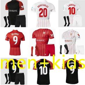 22 22 Sevilha Home Away Jerseys de futebol 2021 2022 Sevilla Ocampos Navas sempre Banega de Jong El Haddadi Torres Rakitic Vazquez Kounge 3rd Adulto Crianças Camisa de Futebol
