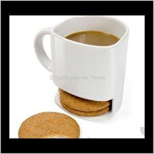 Milk Cups With Biscuit Holder Dunk Coffee Mugs Storage For Dessert Christmas Gifts Ceramic Cookie Mug Kka3109 Ftvrb Vkoe8