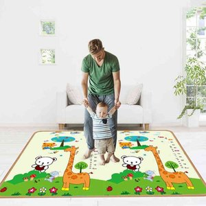 Foldable Baby Play Mat Kid Rug Puzzle Carpet Infant Foldable Playmat Early Education Crawling Game Pad Toy 200cm*180cm*0.5 210401