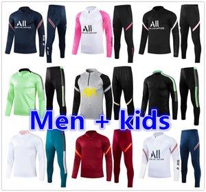 21 22 soccer tracksuit Men + kids football training suit 2020 2021 2022 football tracksuit jogging survetement de foot chandal