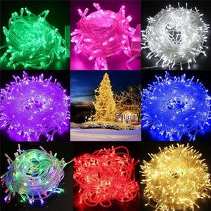 Strings 10M 20M 30M 50M 100M LED String Fairy Lights Holiday Wedding Christmas Decoration Waterproof Garland AC 220V EU Plug