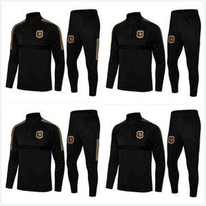 21 22 AIK FOTBOLL 130 ANNI Tuta da allenamento Set Black Golden Sportswear Sportswear Giacca da calcio