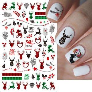 Nail Sticker Christmas Snowflake Snowman Elk 3D Adhesive Nail Sticker Ornament Nail Decals