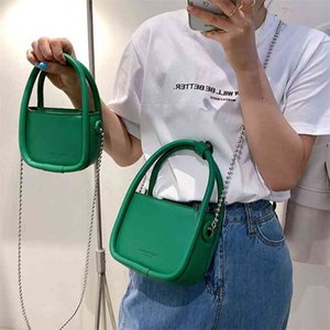 Luxury Brand Woman Shoulder Bags High Quality Leather Handbag and Purses Designer Chain Crossbody Mini Square 210908
