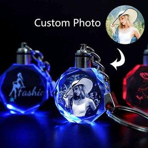 Custom Po Keychain Light Glows in the Dark Lover Family Baby Birthday Personalized Memorial Gift Car House Door Key Ring