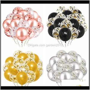 12Inch Mixed Latex Confetti Balloons Happy Birthday Party Decoration Kids Girl Boy Adult Supplies First 18 21 30 40 50 60 70 1St1 O8Ap Jd4Xz