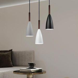 Современные одиночные головки маленькие подвесные огни кухня спальня столовая бар столовая мебель простая мода E27 LED висит лампы лампы