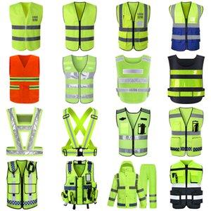 Reflective construction site sanitation garden protection Multi Pocket vest