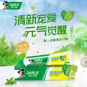 Black double mint toothpaste 225g original flavor lasting fresh breath large capacity affordable home