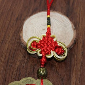 Hot 10 Lucky Ancient Braided Handmade Chinese Knot Feng Shui Coins Prosperity Protection Good Fortune Home Car Decor