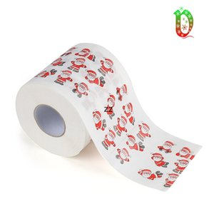 Merry Christmas Toilet Paper Creative Printing Pattern Series Roll Of Papers Fashion Funny Novelty Gift Eco Friendly Portable HWE8596