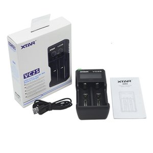 XTRA VC2S Battery Charger LCD Screen Intelligent Micro USB Input 2 Dual Slot Power For 18650 26650 Batteries new