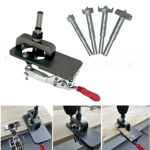 Professional Hand Tool Sets 15mm-35mm Cup Style Hinge Jig Boring Hole Drill Guide Set Forstner Door Template Wood Cutter W  Fixture Woodwork