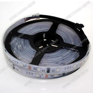 LED Şerit Su Geçirmez IP67 IC 5 M Piksel 12 V Silikon Tüp Rüya Renkli Araba Işık Halat Şerit Bant 30LEDS / M 30IC / M Şeritler