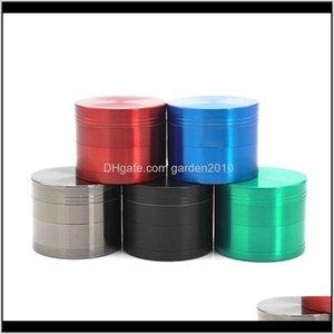 Altri accessori 50mm Tobacco Smoking flat 4 strati in lega di zinco in lega di erba metallica smerigliatrici 6 colori all'ingrosso ooapl azxev