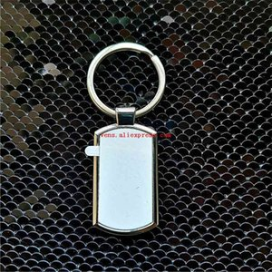 hot style sublimation blank metal key ring Chain hot transfer printing keychains blank consumables material 10pieces lot 210410
