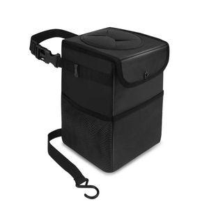 Car Organizer Oxford Cloth Waterproof Trash Can, Auto Parts Organizer, Multi-function Storage Bag With Lid.