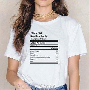 Смешные Чернокожие Женщины Топы Девушка Питание Факты Графические футболки Афро Карта Печать Melanin Queen Firth Lives Motal Лето