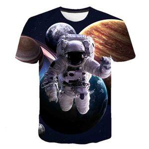 3D Astronaut Children's clothing Spacex Space ship T-shirt Boys Rocket teenagers T-shirts Fashion Cartoon Summer Top tea