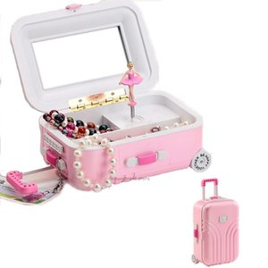 Kids Room Decorations Music Box Jewelry Lever Luggage Cosmetic Storage Friend Christmas Birthday Unique Gifts Boxes & Bins