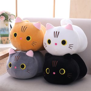Love fat cat plush doll soft cute big face pussy ragdoll for children soothing cylindrical lithe down cotton pillow birthday gift