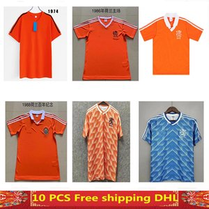 quality 1986 1988 1992 1990 Netherlands Retro soccer jersey maillot de foot Size S-XXL