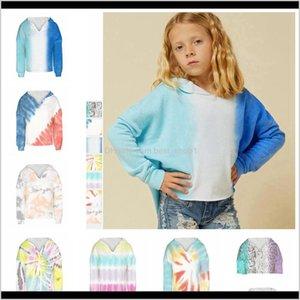 Sweatshirts Baby Baby, Kids & Maternity Drop Delivery 2021 Tie Dye Print Sweatshirt Hoodies Casual For Teens Girl Fashion Long Sleeve Winter