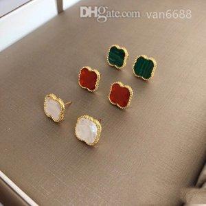 Designer women love ear studs pendant Earrings Cleef Necklaces Screw Bracelet Party carti Wedding earring Couple Gift van Fashion Luxury rings [With box]rtgtfh