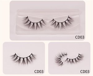 Colorful 3D Mink Eyelashes Makeup Thick Eye Lashes Cross Natural Long False Eyelashes Stage Fake Eyelash packaging box