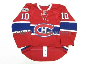 Cheap пользовательский Lafleur Montreal Canadiens Home 100-летие Джерси Джерси Джерси сшитый четкий хоккей любой номер имени