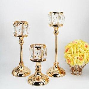 Candle Holders European Style Light Luxury Holder Iron Romantic Candlelight Dinner Ornament Porta Vela Room Decor BS50ZT