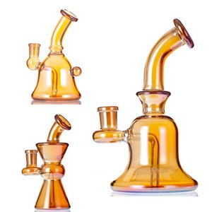 2021 Glass Hookah Bong Water Pipes Dab Rig Small Size Plating Colo With 14mm Joint Quartz Banger
