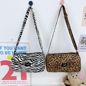 Children handbag 2021 fashion leopard pattern spotted bucket bag for boys girls children one shoulder crossbody bags baby single shoulder bags F731