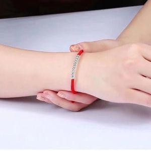 Pure Sier Perfect Red Seil Benmingnische Armband Market Produkte