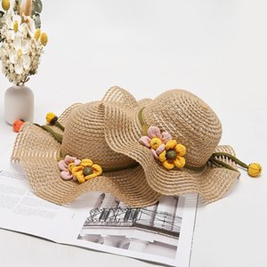 Female Summer Fashion Woven Protection Hat Korean Style Trendy Stylish Beach Big Brim Sun Cool Straw Parent-Child