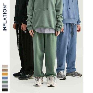 السراويل ION تصميم سوبر في لون نقي فضفاض صالح الرجعية نمط رجل الشارع ارتداء الرجال 93402W