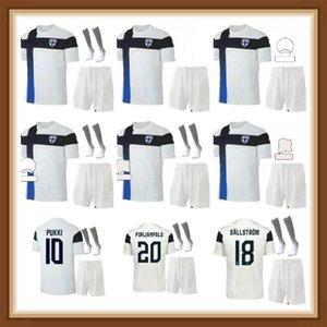 2021 2022 فنلندا كرة القدم الفانيلة pukki skrabb raitala jensen اللود المنزل الأبيض قمصان كرة القدم قصيرة الأكمام